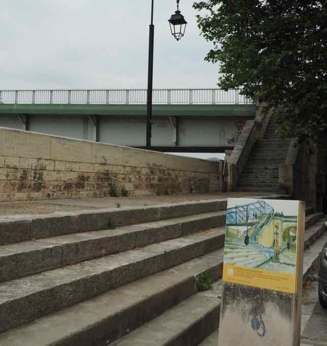 L'escalier du Pont de Trainquetaille, Arles (J. Chung)