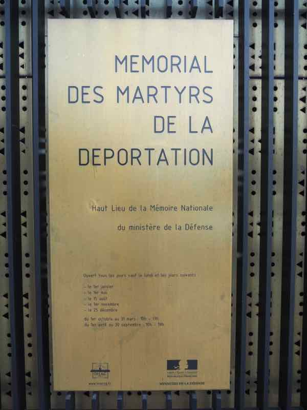 Memorial Martyrs de la Deportation, Paris