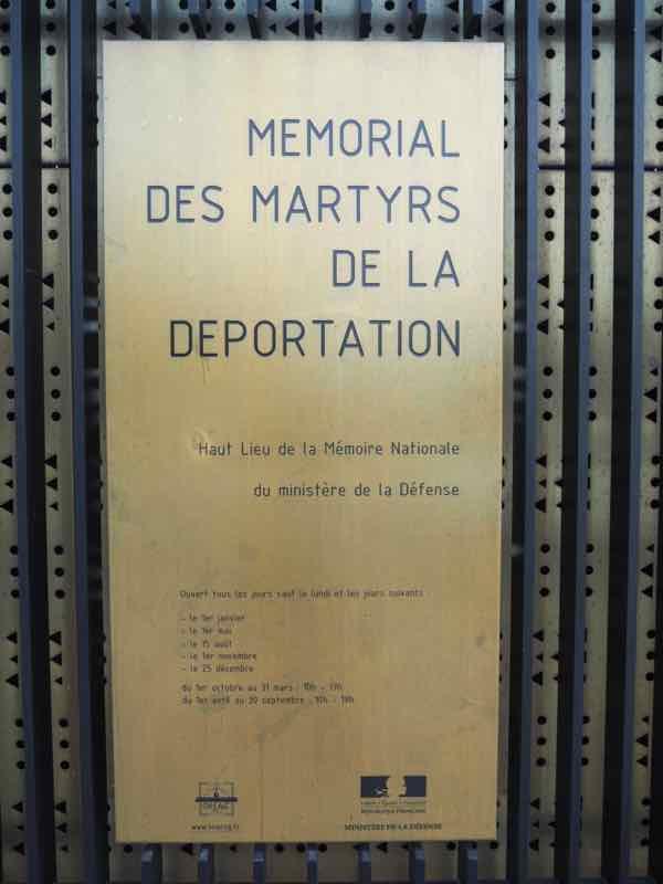 Memorial Martyrs de la Deportation, Paris
