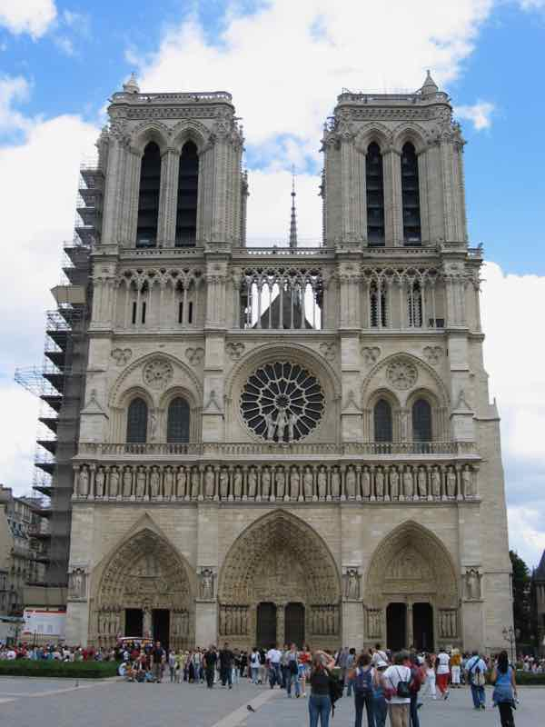 Point zero is right in front of Notre Dame Cathedral, Paris (J. Chung)