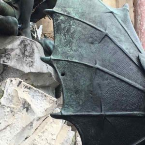 St. Michel fountain bullet hole
