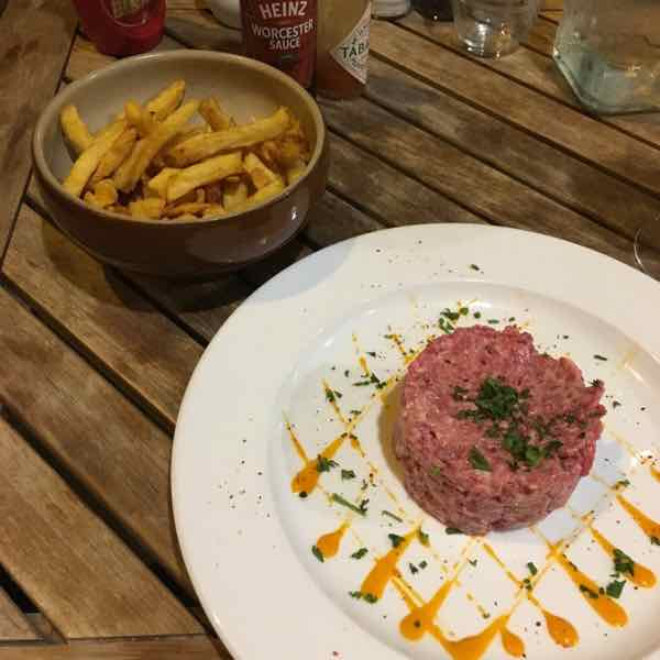Steak Tartare at Pipos Restaurant, Paris