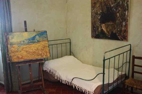 Van Gogh's room at the asylum in Saint-Remy-de-Provence