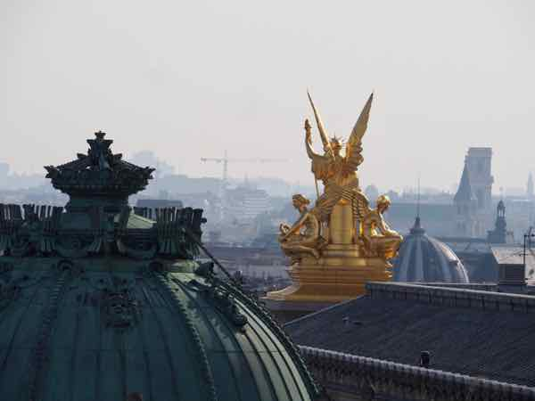 View from terrace of Galeries Lafayette, Paris