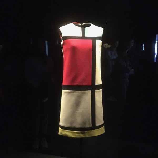 Mondrian dress at the Yves Saint Laurent Museum (J. Chung)
