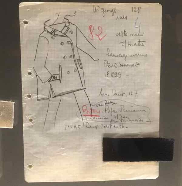 Yves Saint Laurent Museum Pea Jacket Sketch