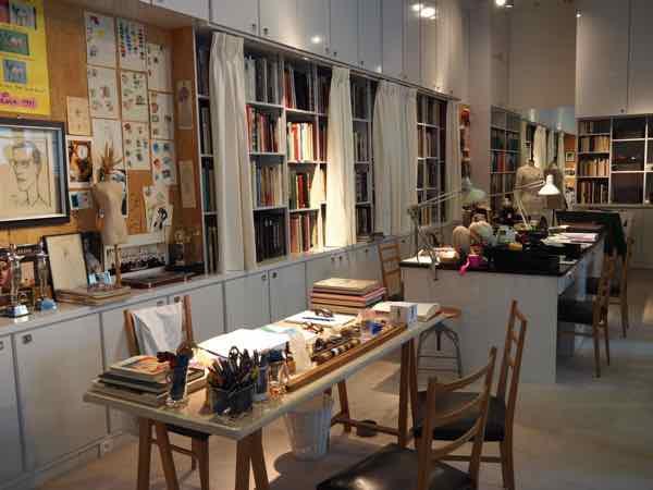 Studio at Musée Yves Saint Laurent (J. Chung)