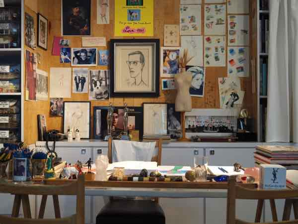 Studio at Musée Yves Saint Laurent (J. Chung)