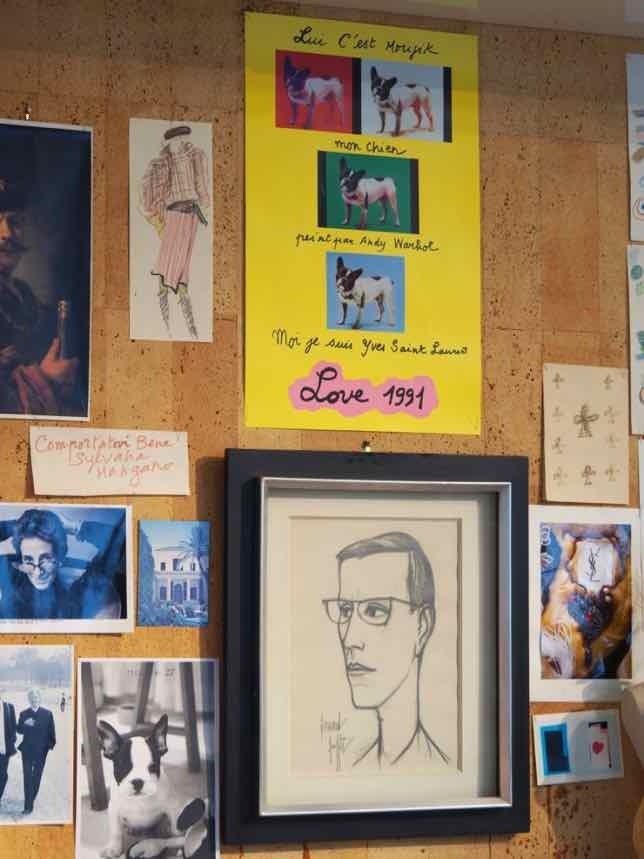 Inside the YSL museum studio, Paris