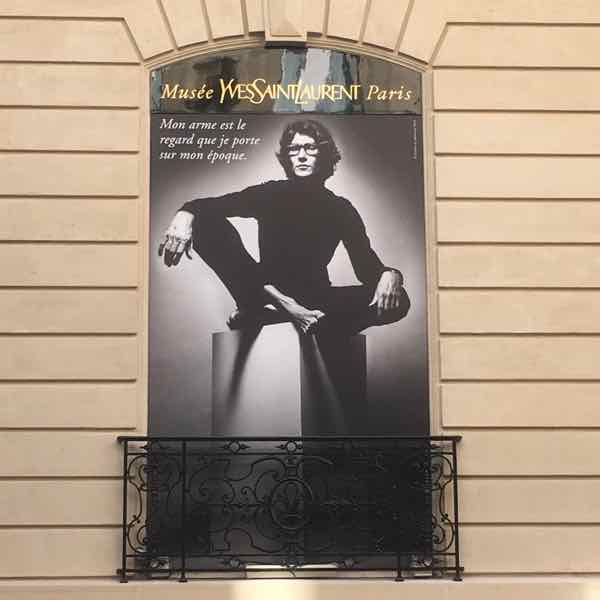 Outside the Musée Yves Saint Laurent (J .Chung)