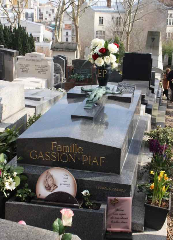 Edith Piaf Tomb at Pere Lachaise Cemetery (J. Chung)
