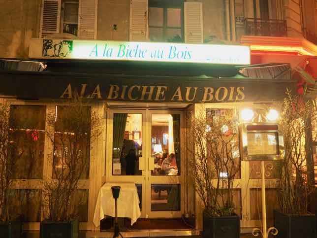 A la Biche au Bois Restaurant, Paris (J. Chung)