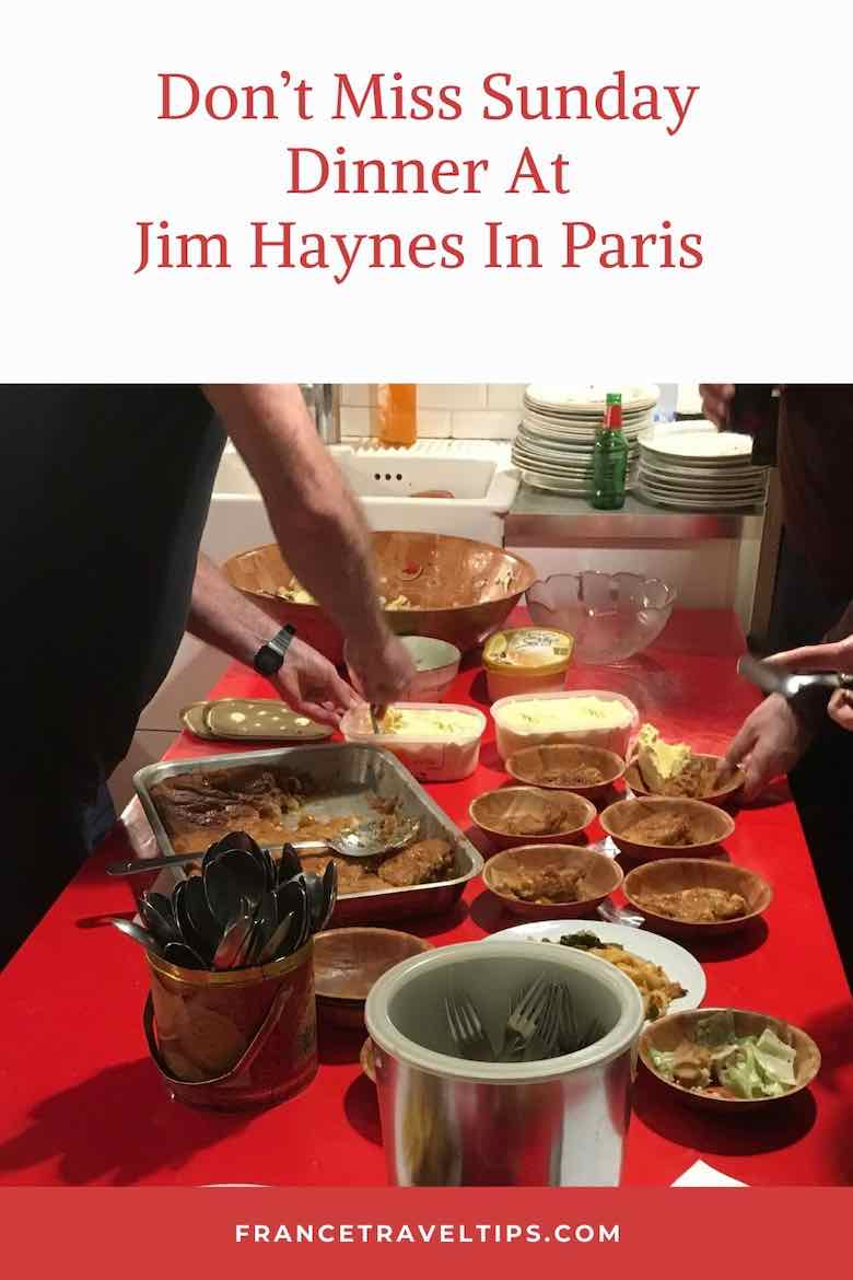 Don't Miss Sunday Dinner At Jim Haynes In Paris