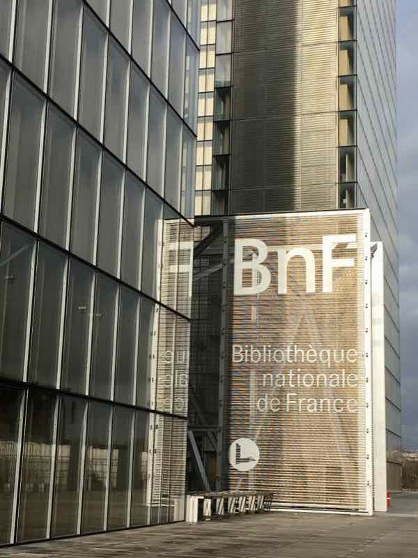 Four National Library of France sites: Francois Mitterrand library