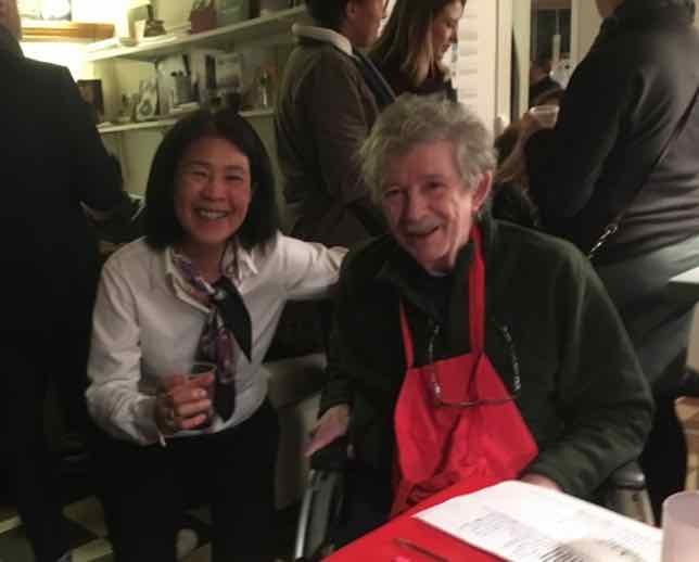 Janice Chung and Jim Haynes