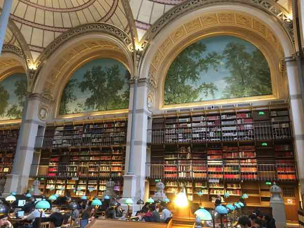 Four National Library of France sites: Richelieu site's Labrouste Reading Room (J. Chung