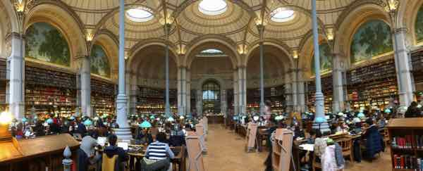 Labrouste Reading Room at the National Library of France Richelieu Site (J. Chung)