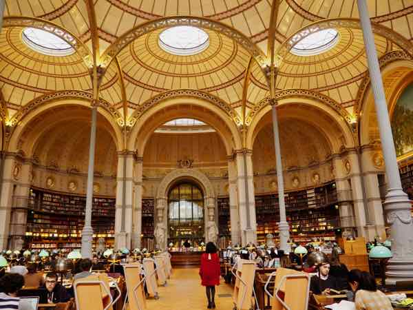 One of the National Library of France sites: Richelieu Library, Paris (J. Chung)