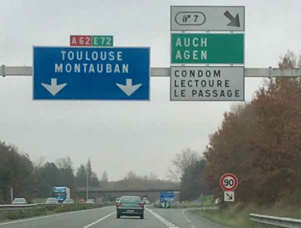 Autoroute in France