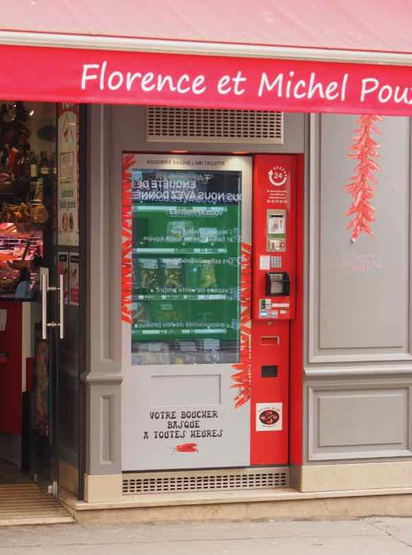 Meat vending machine in Paris (J. Chung)