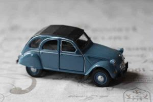 Blue Citroen 2CV-French icon the Citroen 2CV