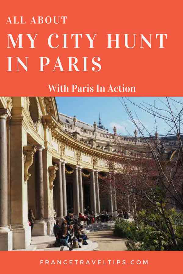 My City Hunt In Paris with Paris In Action