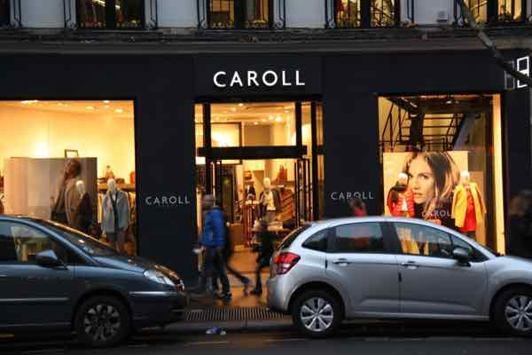 The store, Caroll in Paris