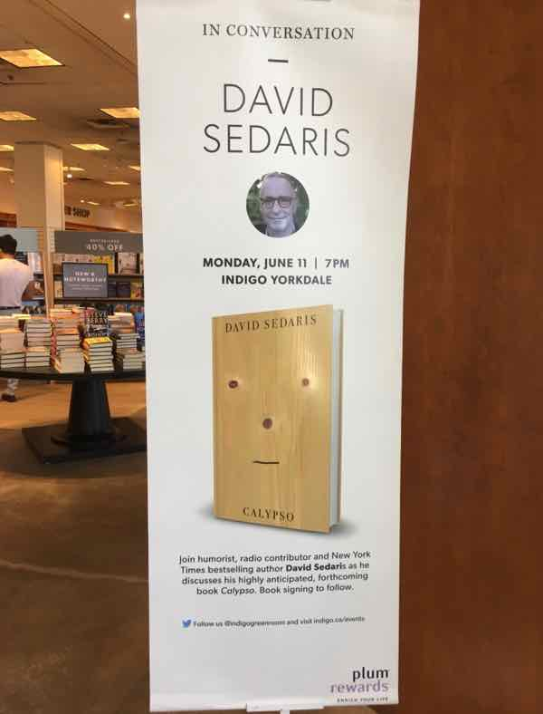 Funny side of France as told by David Sedaris--book talk in Toronto