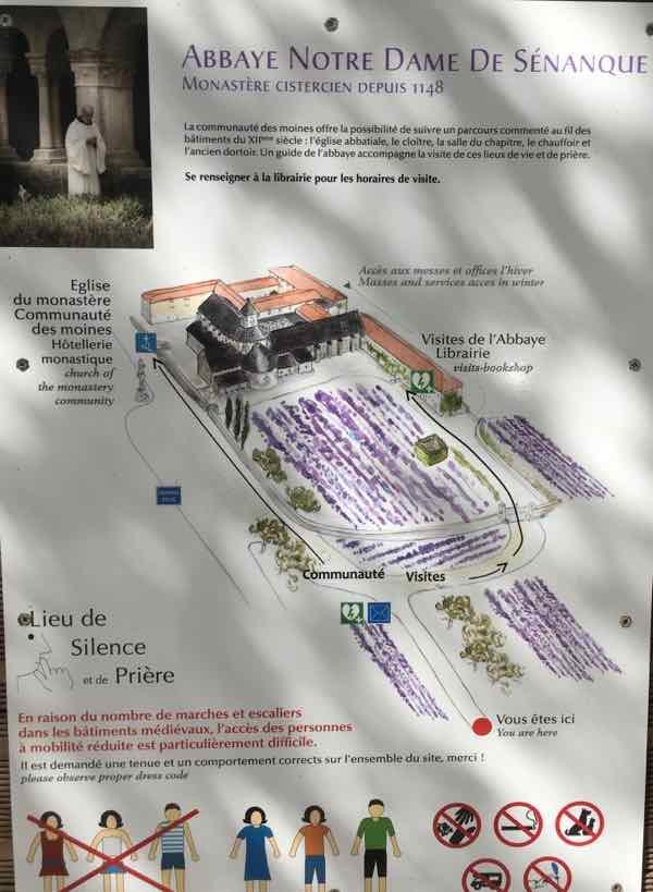 Abbey Notre Dame de Senanque Information Poster