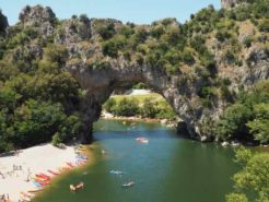 kayakers on the Ardeche river