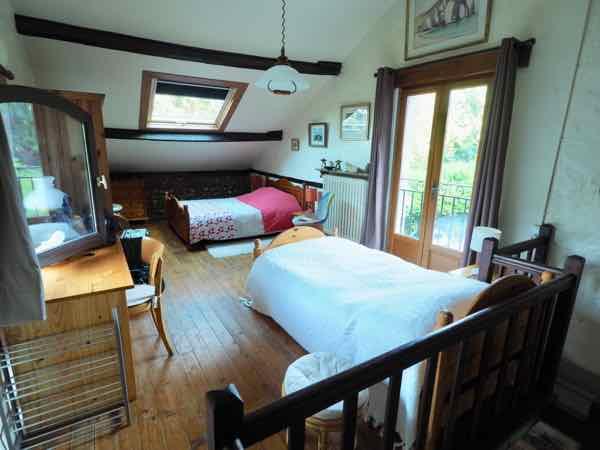 Bedroom at Airbnb in Etretat