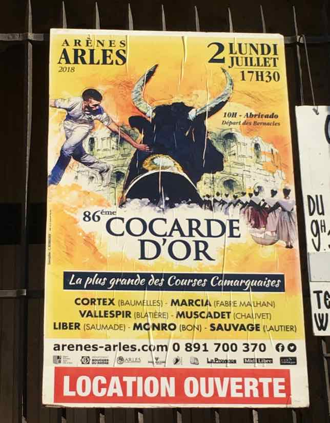 Poster: Bull fighting at the Corcarde d'Or