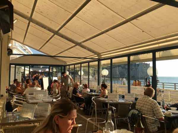 Covered terrace at Le Homard Bleu, Etretat