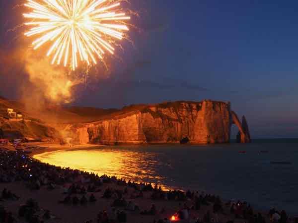 Fireworks in Etretat