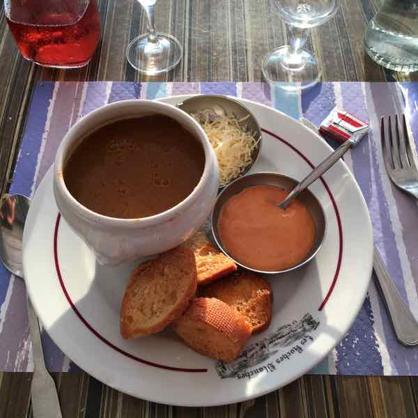 Fish soup at Le Homard Bleu