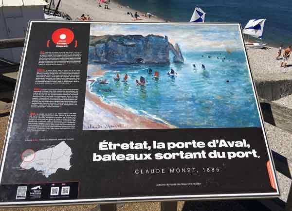 Claude Monet and Etretat