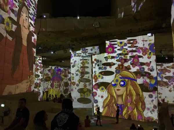 Flower Power and Pop Culture at Les Carrières de Lumières, Les Baux (J. Chung)