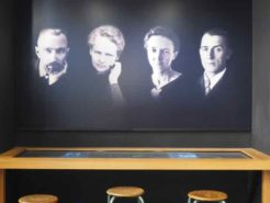 Pierre and Marie Curie and daughter Irène Joliot-Curie and son-in-law, Frédéric Joliot-Curie