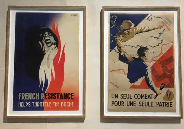 French Resistance posters from the Musee de l'ordre de la liberation, Paris--Life In Paris During WWII