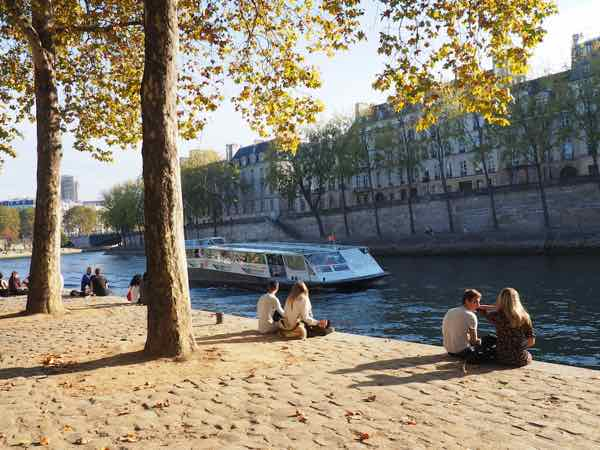 Lounging by the Seine River, Paris