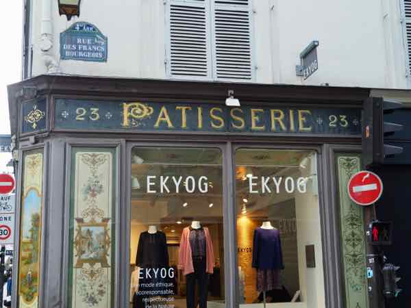 Patisserie on rue des Francs Bourgeois--WWII tour