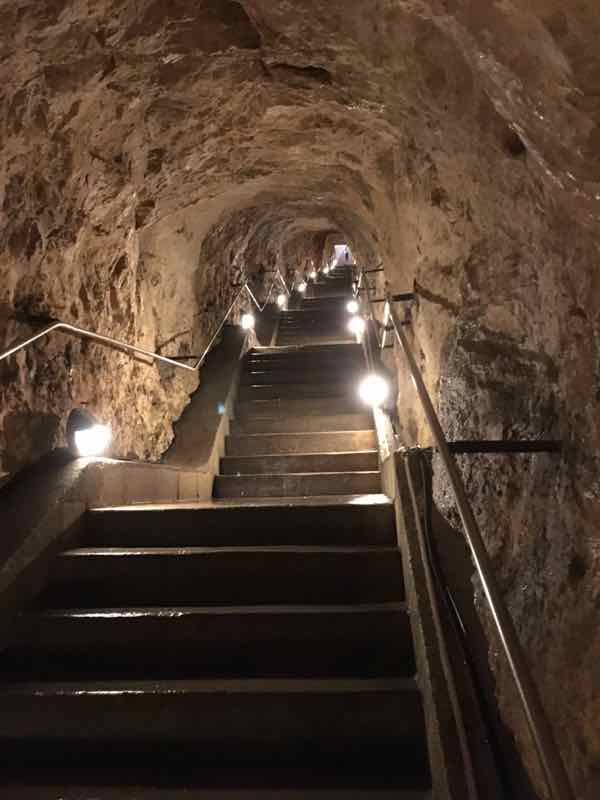 Stairway to La Grotte-Aven d'Orgnac