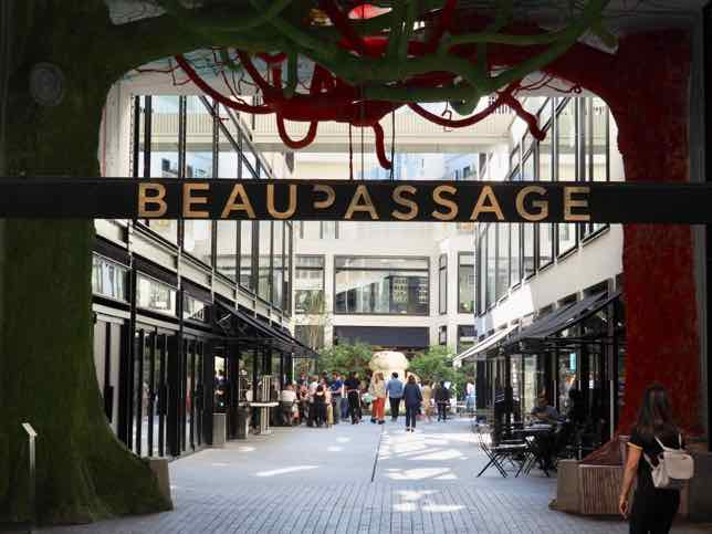 Entranceway at Beaupassage Paris