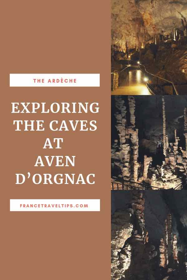 Exploring the caves at Aven d'Orgnac