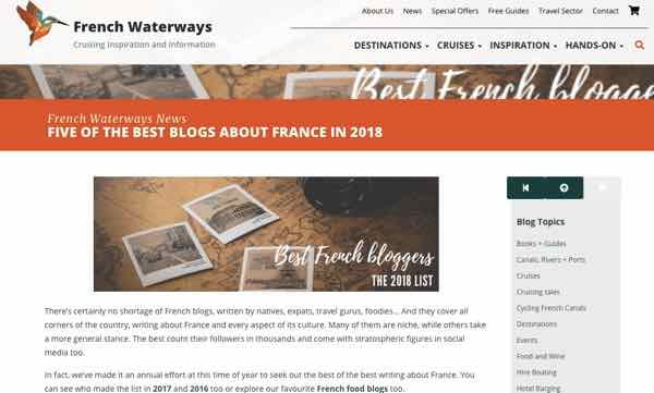 French Waterways Best French Bloggers