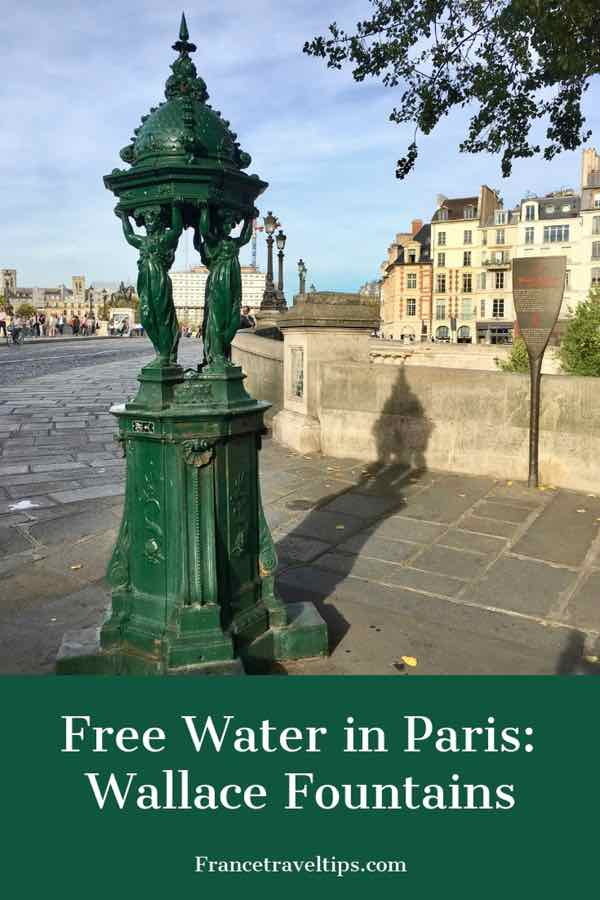 Free water in Paris- Wallace Fountains