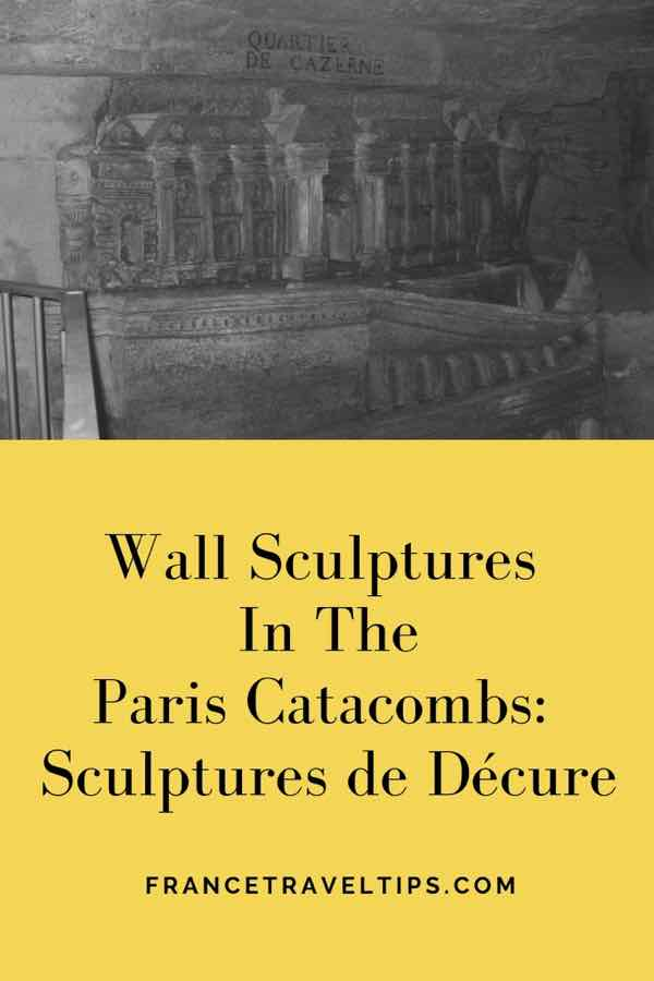 Wall Sculptures at the Paris Catacombs-Sculptures de Décure (J. Chung)