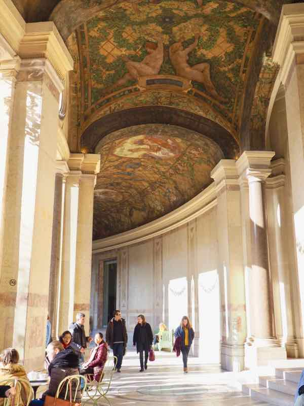 Courtyard with frescos on ceiling at Petit Palais, Paris (J. Chung)