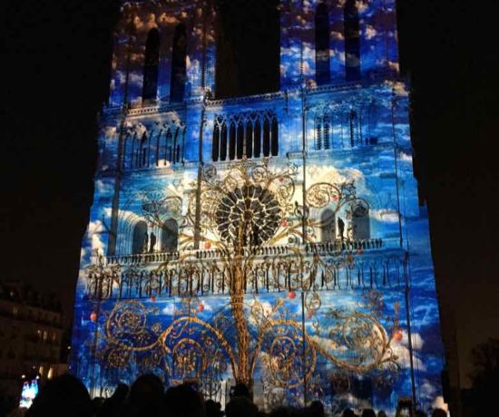Dame de Coeur-sound and light show at Notre-Dame (J. Chung)