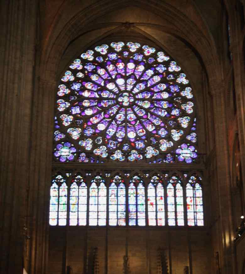 Stained Glass Window-Notre-Dame Cathedral, Paris (J. Chung)
